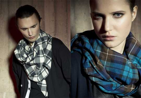 Модные шарфы   зима 2010