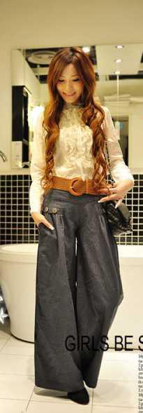 Учимся носить широкие джинсы!