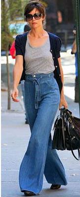 Учимся носить джинсы с завышенной талией