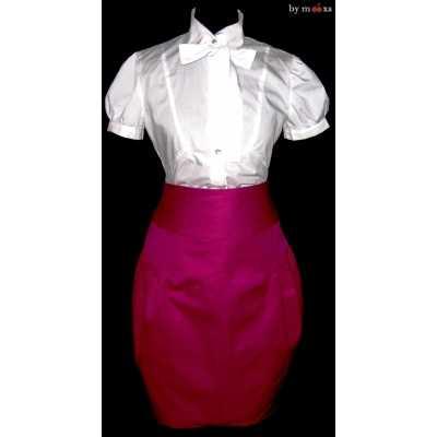 Как и с чем носить юбку тюльпан?