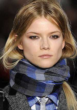 Модные шарфы   зима 2011
