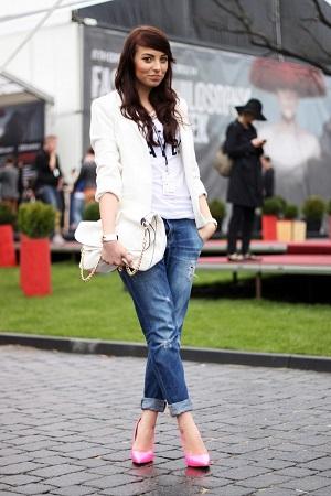 Джинсы Boyfriend: как носить и с чем сочетать