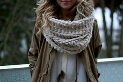 Снуд или шарф хомут, как носить и с чем сочетать. Фото и видео
