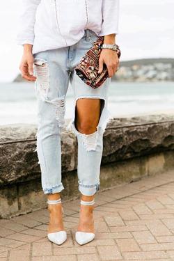 Как правильно порвать джинсы в домашних условиях 85
