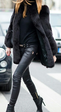 Кожаные брюки: как носить и с чем сочетать