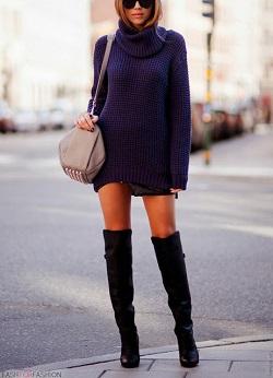 Платье свитер вязаное купить