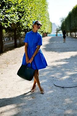 Синий цвет   модные образы лето 2015