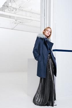 Пальто с меховым воротником   зима 2015/2016